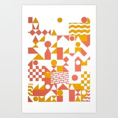 GRID II Art Print