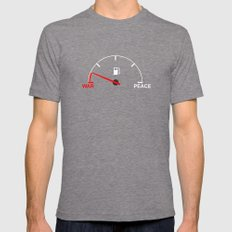 War meter Mens Fitted Tee Tri-Grey SMALL