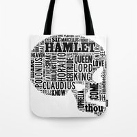 Shakespeare's Hamlet Skull Tote Bag
