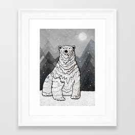Framed Art Print - Polar Bear -  Steve Wade ( Swade)