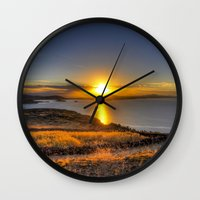 A Titicaca Sunset Wall Clock