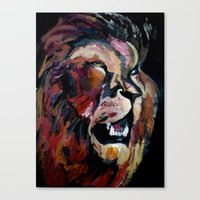 Friendly Lion Canvas Print