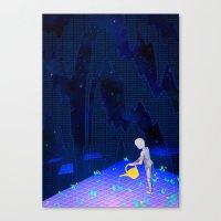 01101100011010010110011001100101 Canvas Print