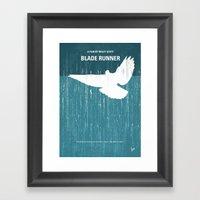 No011 My Blade Runner minimal movie poster Framed Art Print