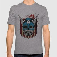 Captain-A Mens Fitted Tee Athletic Grey SMALL