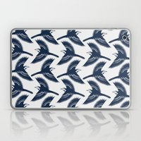 White Wagtails Pattern Laptop & iPad Skin