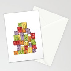 ABC Block Stationery Cards