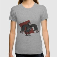 Caesar - Dawn of the Planet of the Apes Cartoon Womens Fitted Tee Athletic Grey SMALL