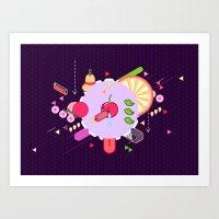 Tasty Visuals - Cherry P… Art Print