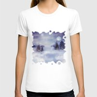 Winter Night Womens Fitted Tee White SMALL