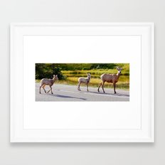 Mom and the Kids Framed Art Print