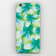 Blue Plumeria Floral Watercolor iPhone & iPod Skin