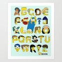 Simpsons Alphabet Art Print