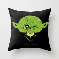 StarWars May the Force be with you (green vers.) Throw Pillow