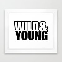 Wild & Young Framed Art Print