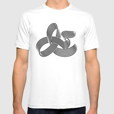 Eye bending Ampersand. White SMALL Mens Fitted Tee