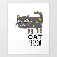 Cat Person Art Print