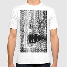 Copy Monster White SMALL Mens Fitted Tee