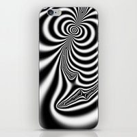 Black and White Fractal 7 iPhone & iPod Skin