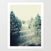 tree farm Art Print