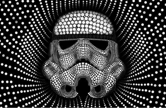 Trooper Star Circle Wars Art Print