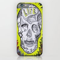 iPhone & iPod Case featuring NEON SKULL by Renata Kats