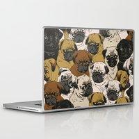 birthday Laptop & iPad Skins featuring Social Pugz by Huebucket