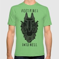 Feet First into Hell - Halo ODST Mens Fitted Tee Grass SMALL