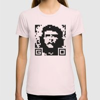 QR- Che Womens Fitted Tee Light Pink SMALL