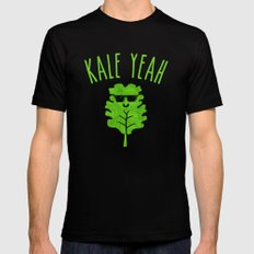 KALE YEAH Mens Fitted Tee Black SMALL