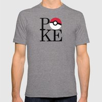 Poke Mens Fitted Tee Tri-Grey SMALL