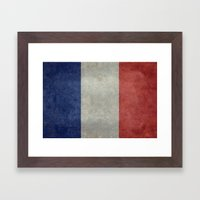 The National Flag of France Framed Art Print