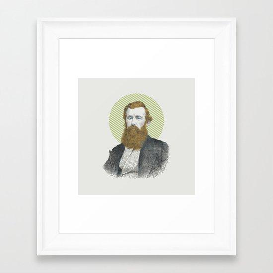 Blue Eyes, Red Beard, Gray Suit Framed Art Print