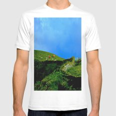 The Rolling Hills of County Clare SMALL White Mens Fitted Tee
