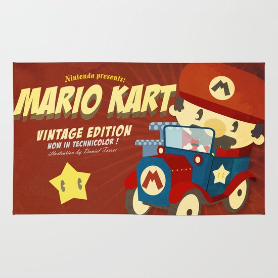 mario kart vintage Area & Throw Rug