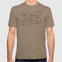 Stop and Smell the Roses Mens Fitted Tee Tri-Coffee SMALL