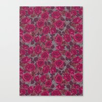 Roses In Mauve Canvas Print