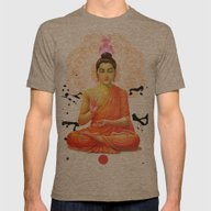 Buddha Mens Fitted Tee Tri-Coffee SMALL