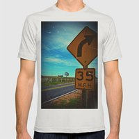 35 mph Mens Fitted Tee Silver SMALL