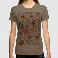 Pretty Paisley Womens Fitted Tee Tri-Coffee SMALL
