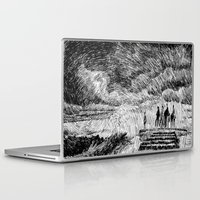 mandala Laptop & iPad Skins featuring Storm - Ink by Nicolas Jolly