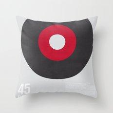 45 RPM Throw Pillow