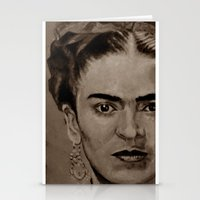 Frida Kahlo - sepia Stationery Cards
