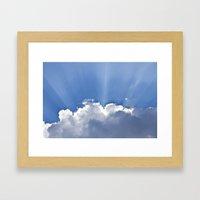 Clouds over Seaside Framed Art Print
