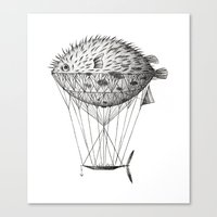 Airfish Express Canvas Print