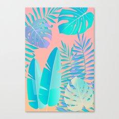 Tropics ( monstera and banana leaf pattern ) Canvas Print