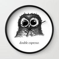 double espresso Wall Clock