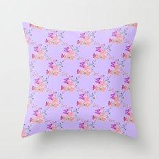 Butterflies Flowers Tiny Hearts Throw Pillow