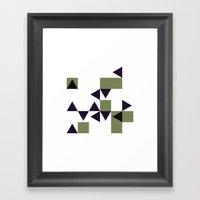 #186 Many – Geometry D… Framed Art Print