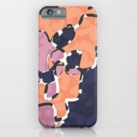 iPhone & iPod Case featuring Cartografía de Orquídea (on blue) by MaJoBV